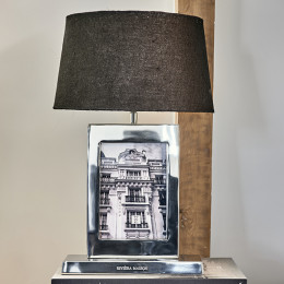 Classic club photo frame table lamp