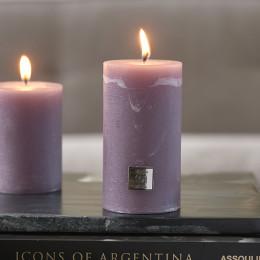 Rustic candle lavendel 7x13