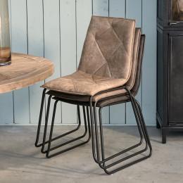 Venice park stackable chair set 2 pellini camel