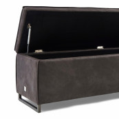 Club 48 bench with lid pell espres