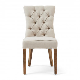 Balmoral dining chair oxford weave flanders flax