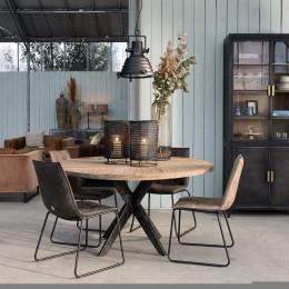 Falcon crest round dining table 150cm diameter