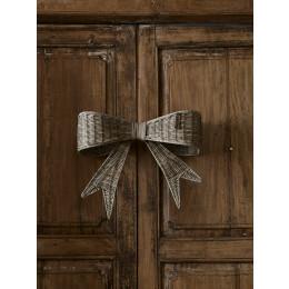 Rustic rattan jacky bow door decoration