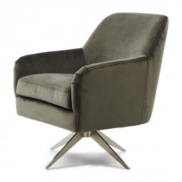Fawcett swivel chair vel slategrey