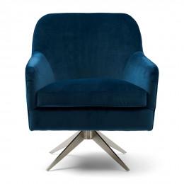 Fawcett swivel chair vel ocean blue