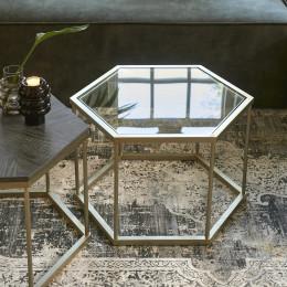 Costa mesa hexagon glass side table