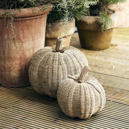 Rustic rattan pumpkin m