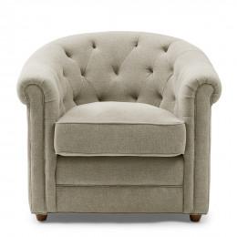 Grantham armchair linen fabflax