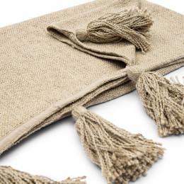 Tassle treasure throw flax 170x130
