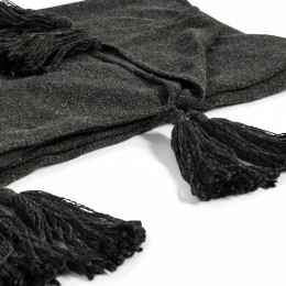 Tassle treasure throw black 170x130