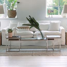 Continental sofa 3 5 seater oxford weave alaskan white