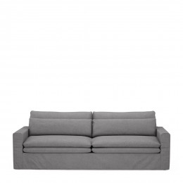 Continental sofa 3 5 seater oxford weave steel grey