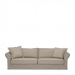 Carlton sofa 3 5 seater oxford weave anvers flax