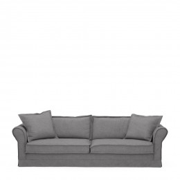 Carlton sofa 3 5 seater oxford weave steel grey
