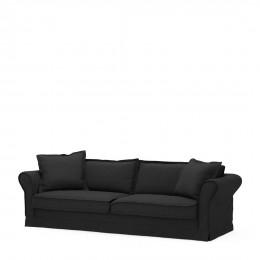 Carlton sofa 3 5 seater oxford weave basic black