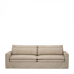 Continental sofa 3 5 seater washed cotton natural