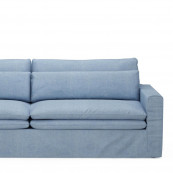 Continental sofa 3 5 seater washed cotton ice blue