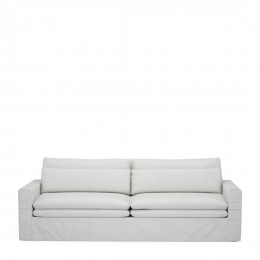 Continental sofa 3 5 seater washed cotton ash grey