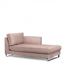 West houston chaise longue right velvet blossom