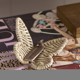 Rustic rattan butterfly decoration