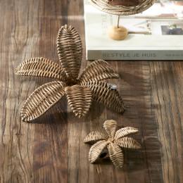 Rustic rattan decoration flower xs