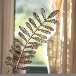 Rustic rattan leaf bamboo model
