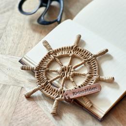 Rr rattan steering wheel decoration