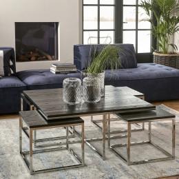 Nomad 5 piece cofee table set black