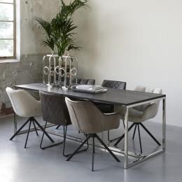 Nomad dining table black 220x90 cm