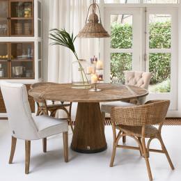 Harrison drop leaf round dining table 160cm diameter