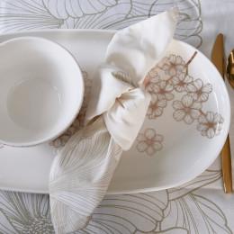 Les fleurs porcelain serving plate