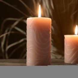 Desert secrets candle rose 7x14cm
