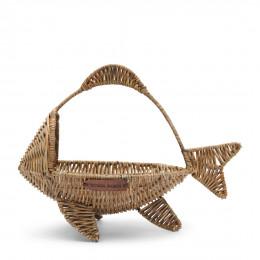 Rustic rattan happy fish basket