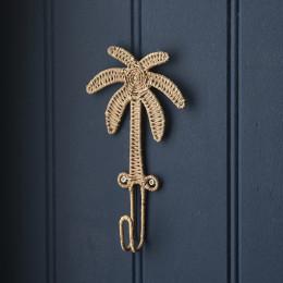 Rustic rattan tropical palm hook