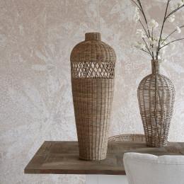 Rr rattan cross weave vase