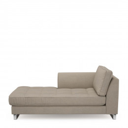 West houston chaise longue left oxford weave anvers flax