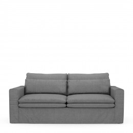 Continental sofa 2 5 seater washed cotton grey