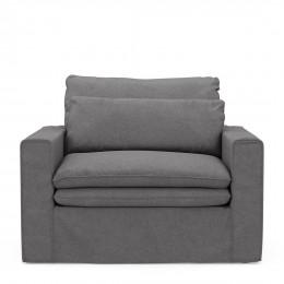Continental love seat stgrey