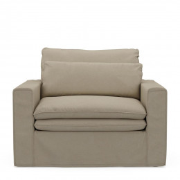 Continental love seat flanflax