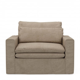 Continental loveseat cotton natural
