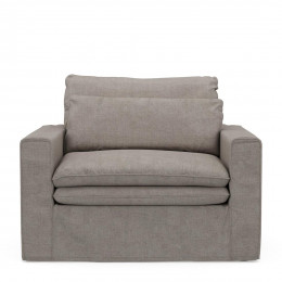 Continental loveseat cotton stone