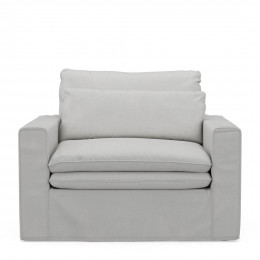 Continental loveseat cotton ashgrey