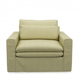 Continental loveseat cot moss green