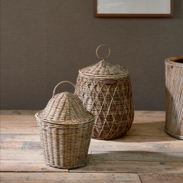 Rr rattan basic storage basket