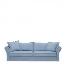 Carlton sofa 3 5 seater washed cotton ice blue