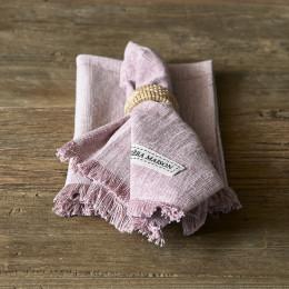 Boho basic square napkin veiled rose 45cm