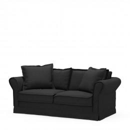 Carlton sofa 2 5 seater oxford weave basic black
