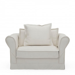 Carlton love seat oxford weave alaskan white