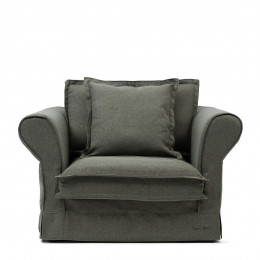 Carlton love seat oxford weave forest green