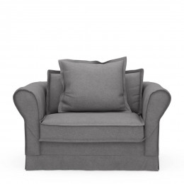 Carlton love seat oxford weave steel grey